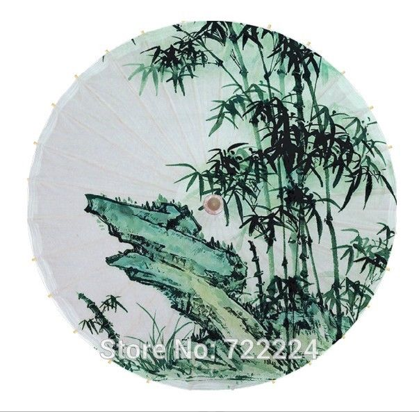 26.42$  Buy now - http://alieq4.shopchina.info/go.php?t=32705617984 - Dia 84cm chinease unique vintage handmade umbrella with bamboo painting waterproof parasol dance props gift oiled paper umbrella 26.42$ #SHOPPING