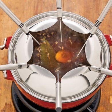 Bouillon ; fondue chinoise express - Recettes - Cuisine et nutrition - Pratico Pratique