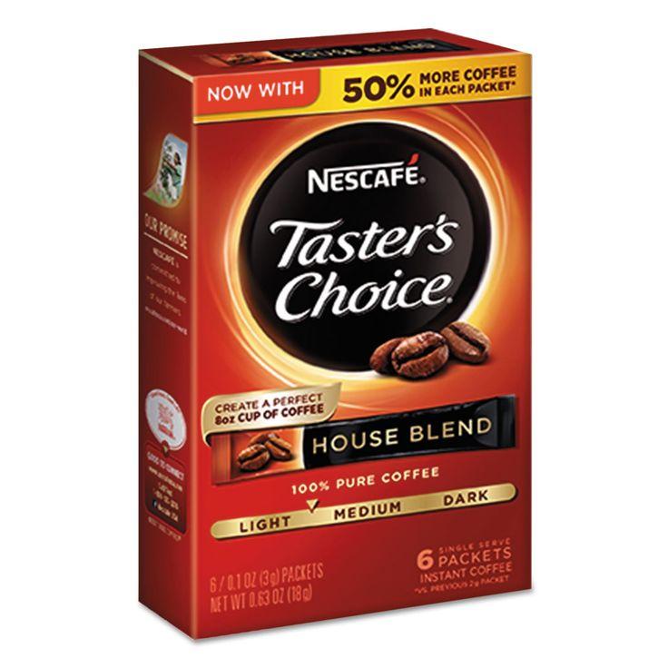 Taster's Choice House Blend Instant Coffee, 0.1oz Stick, 6/box, 12box/carton