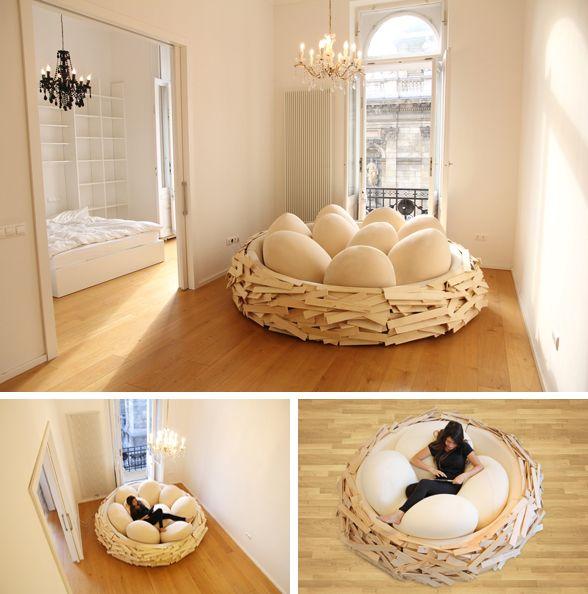 Log Bed Frame Bedroom Decor
