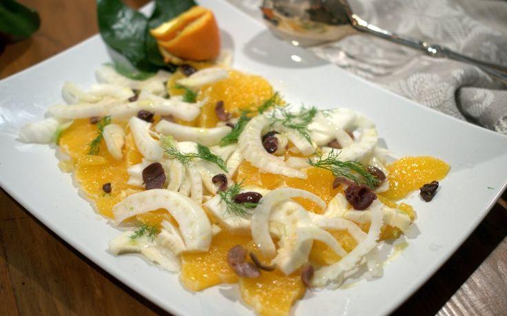 Insalata di arance finocchi con olive taggiasche