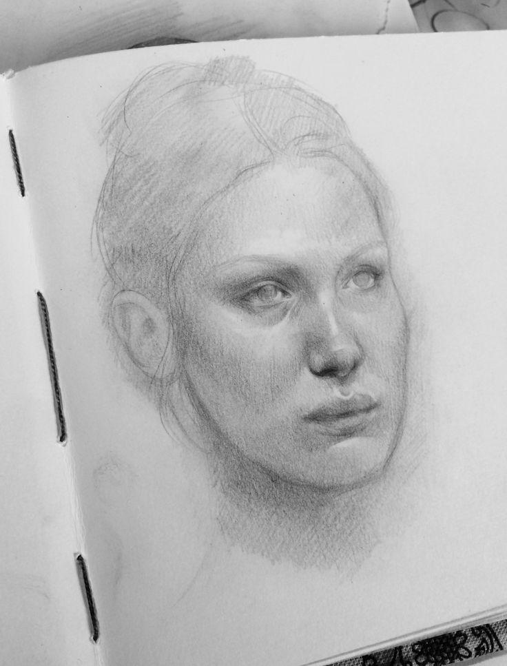 Bella Hadid portrait sketch