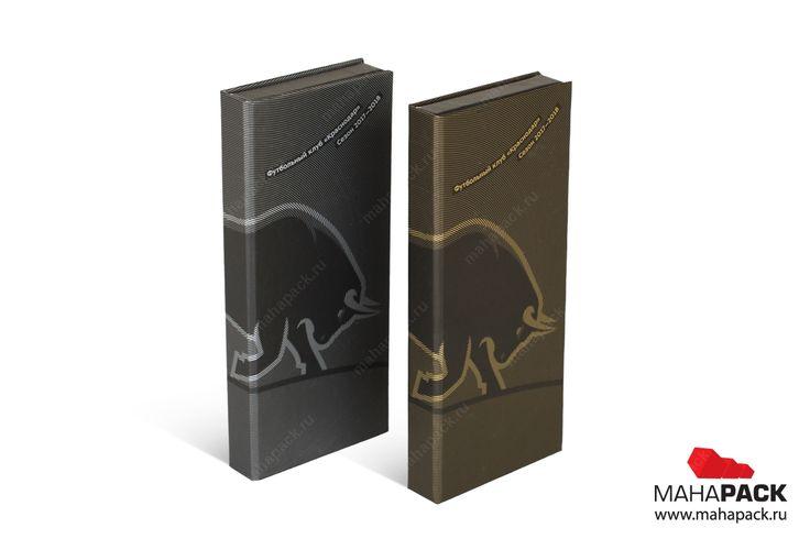 Кашированные коробки-книжки для пластиковых карт под заказ
