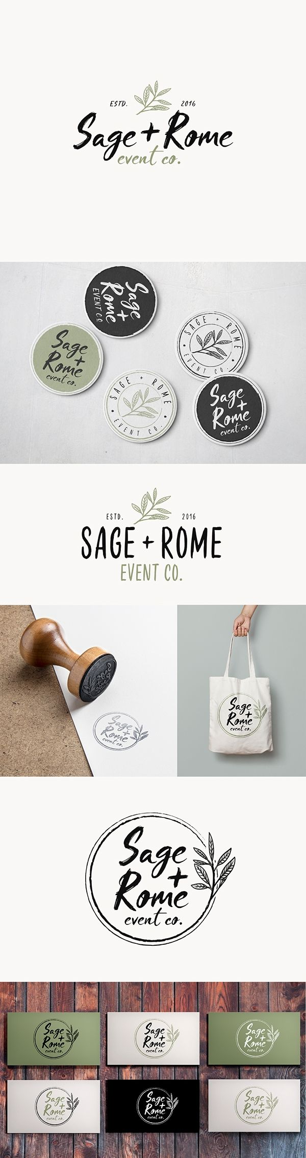 Rustic logo for Sage + Rome on Behance