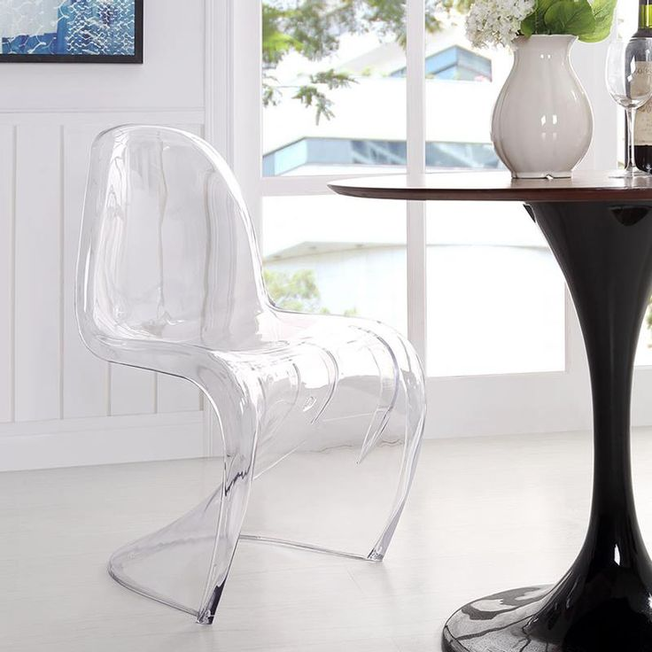 S Acrylic Dining Chair | Modern Dining | On Trend | Unique Accent Chair |  Eurway