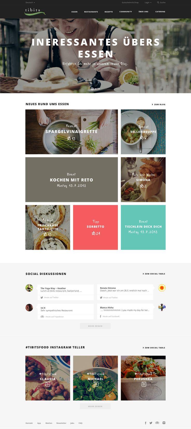 Relaunch Tibits Website Tibits AG  #webdesign #hinderlingvolkart #design #indentity #ux #ui #corporate #screendesign #restaurant #food #E-Commerce #HTML5 #Mobile #Responsive #Social-Media