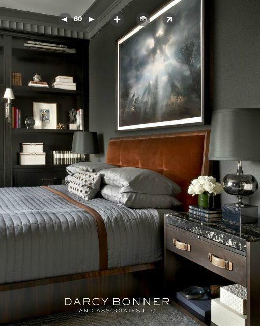 Imagen relacionada dormitorios pinterest bedrooms for Masculine grey bedroom
