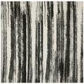 Safavieh Retro Dark Grey/ Light Grey Rug (8 x 8 Square) | Overstock.com