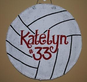 burlap volleyball