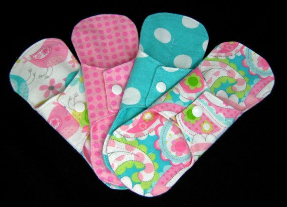 Flannel Pantyliners With Wings Optional hidden by SwaddleinCloth