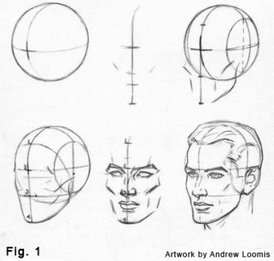 How to drawings telling me to go from a ball to a perfectly chiseled man.