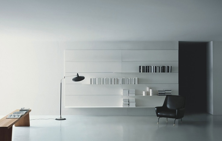 The Load It wall system by Porro. Available in different colors and materials.