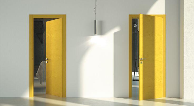 FBP porte | Collezione TINA - Essenza: frassino - Colore: spazzolato laccato poro aperto #fbp #porte #legno #frassino #door #wood #ash