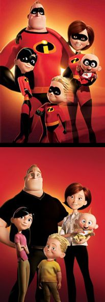 The Incredibles / Parr family. Pixar's 'The Incredibles' (2004)