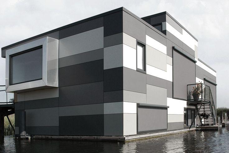 Floating Houses Lelystad Equitone Facade Panels