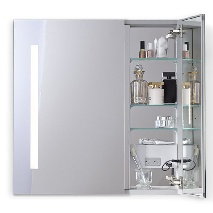 robern aio series two door lighted medicine cabinet