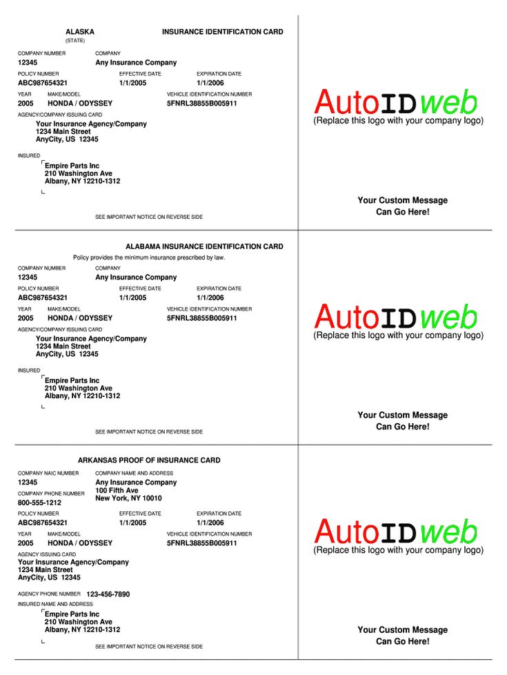 The appealing Insurance Card Template - Fill Online ...