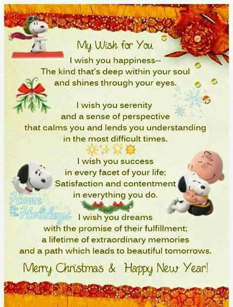 My Wish For You Peanuts Pinterest Snoopy Snoopy Love And