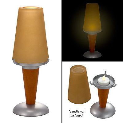 Best 25 candle lamp shades ideas on pinterest diy candle lamp sterno amber glass globe candle lamp shade art deco wood base ambria glass mozeypictures