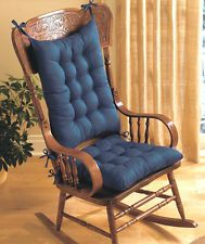 Rocking Chair Cushion Set Pad For Seat And Back 3 Color Choices