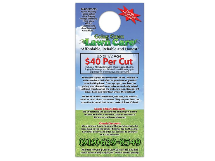 16 best Door Hangers images on Pinterest Door hangers, Lawn - lawn care specialist sample resume