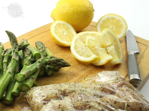 Grilled Lemon Chicken and Asparagus Skewers  via TheKimSixFix.com