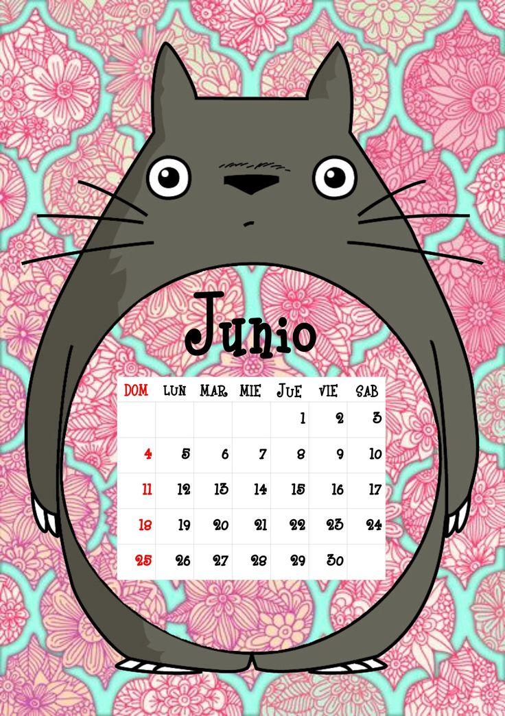 Calendario Totoro 2017 ♦ Junio ♦