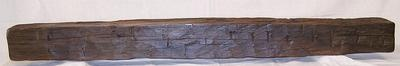 fireplace mantel mantle shelf rustic poplar hand hewn post beam Made in USA B