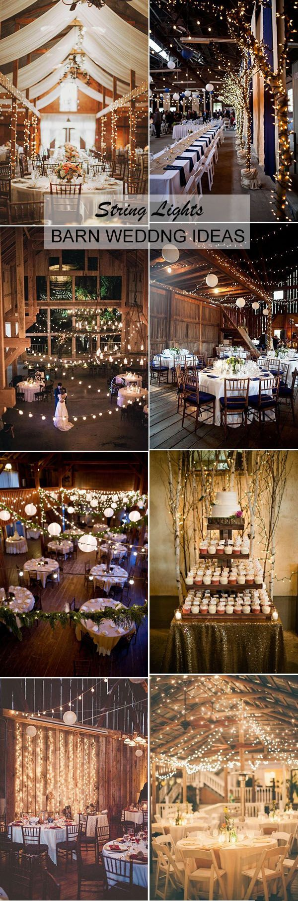 string lighting barn wedding reception ideas