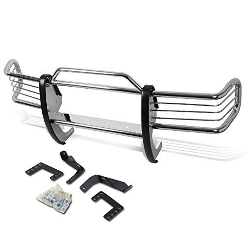 Jeep Grand Cherokee ZJ Front Bumper Protector Brush Grille Guard (Chrome). For product info go to:  https://www.caraccessoriesonlinemarket.com/jeep-grand-cherokee-zj-front-bumper-protector-brush-grille-guard-chrome/
