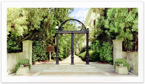 Panoramic View by Danny White Panoramic View of UGA Arch by Danny White [PRDF108] - $30.00 : Athens Art and Frame, Custom Framing, Art and Photo Services