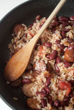 Recipe For Quick Red Beans and Rice with Andouille Sausage - It was hearty, rich, and satisfying with lots of the smokiness and spiciness common to Creole cuisine.