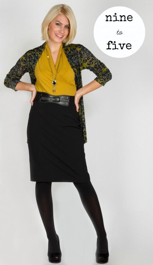 The Tobias black pencil skirt looks polished and professional whether your career is creative or corporate.