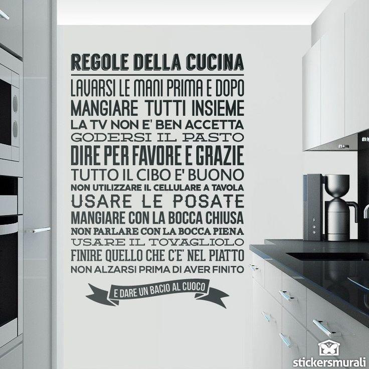 Adesivi Murali Regole de la Cucina