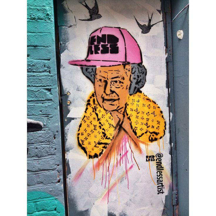 Wall art on Brick Lane, ldn.
