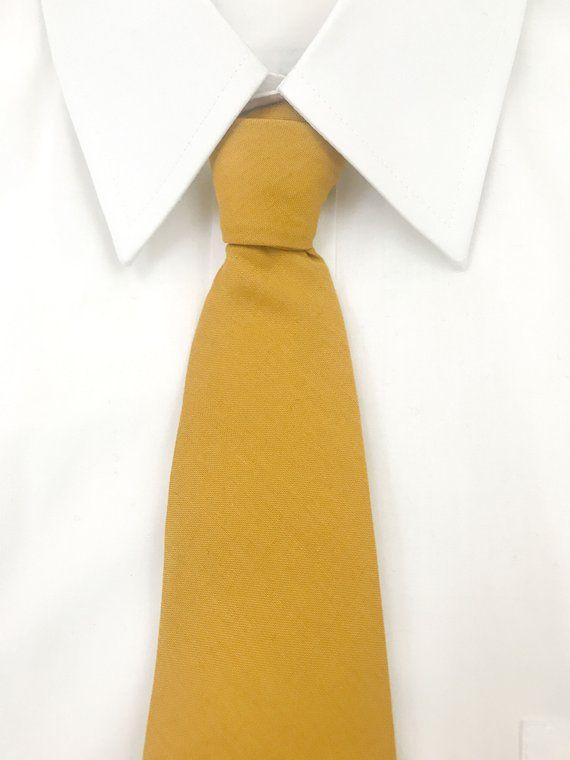 c1a10df09092 Mustard Yellow Goldenrod Necktie Autumn Wedding Necktie | Etsy ...