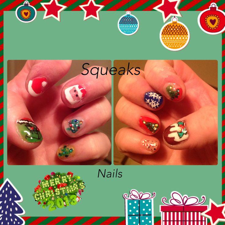First try at xmas nails