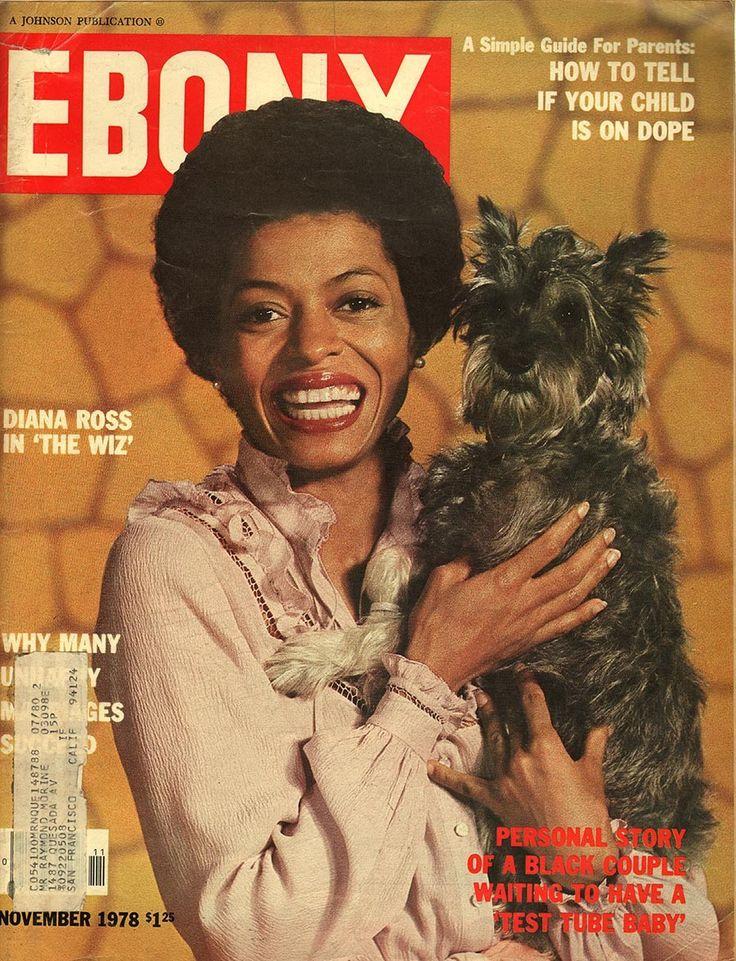 Ebony Magazine Diana Ross on cover November  1978 - EphemeraForever.com