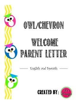 A free parent welcome letter. This is a generic Welcome letter in English and Spanish. We have a growing need for translated communication material so I have decided to start adding Spanish versions for your convenience. Follow me so you will know exactly when I add material.