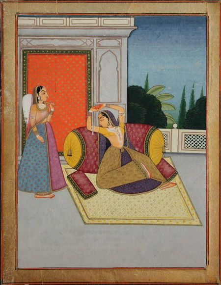 www.IndianMiniaturePaintings.co.uk - Indian miniature painting: Folio from a…