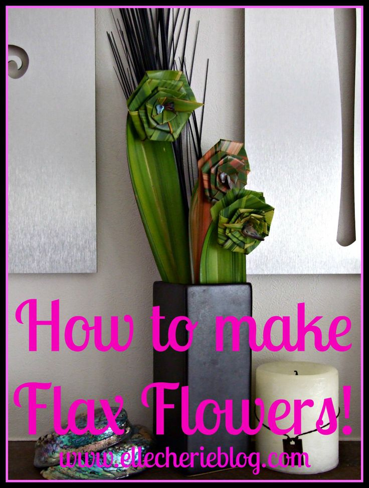 How to make Flax Flowers! Full tutorial - Pin and Click to see more. Visit www.ellecherieblog.com