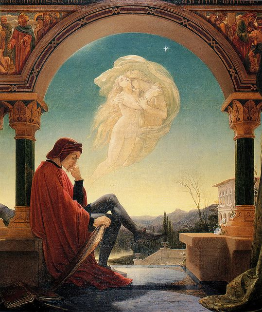 Sir Joseph Noel Paton (Scottish, 1821-1900), Dante Meditating the Episode of Francesca da Rimini and Paolo Malatesta by sofi01, via Flickr