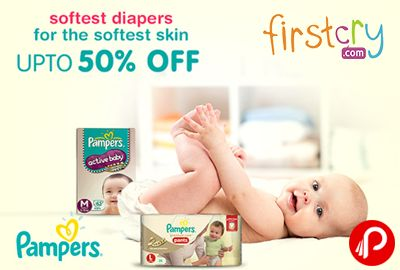 Firstcry is offering Upto 50% off on Pampers Diapers. Softest Diapers for the softest skin. FirstCry Coupon Code – FC10DPR  http://www.paisebachaoindia.com/pampers-diapers-upto-50-off-firstcry/