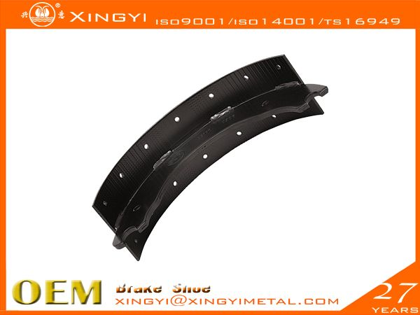 1308Q Brake Shoe  brake pads,We are manufacture of brake shoes, we  covers Japanese, European, Korean,US trucks. •web welding wethod:5、7Segments,Full bead•High precision technics:Radius precision Effective throat>3.74•Heat treament:HRS:35-45 hardness•Surface treatment:0.08-0.15mmthick•180 to 360 hours salt spray test,fatigue test, tensile test, metallographic analysis, element test, chromatic aberration test•Reline able 5-6times reuse guranteed•Original place: CHINA.xingyi@xingyimetal.com