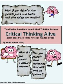 fun critical thinking questions How to teach critical thinking if you want to teach your students critical thinking, give them opportunities to brainstorm and.