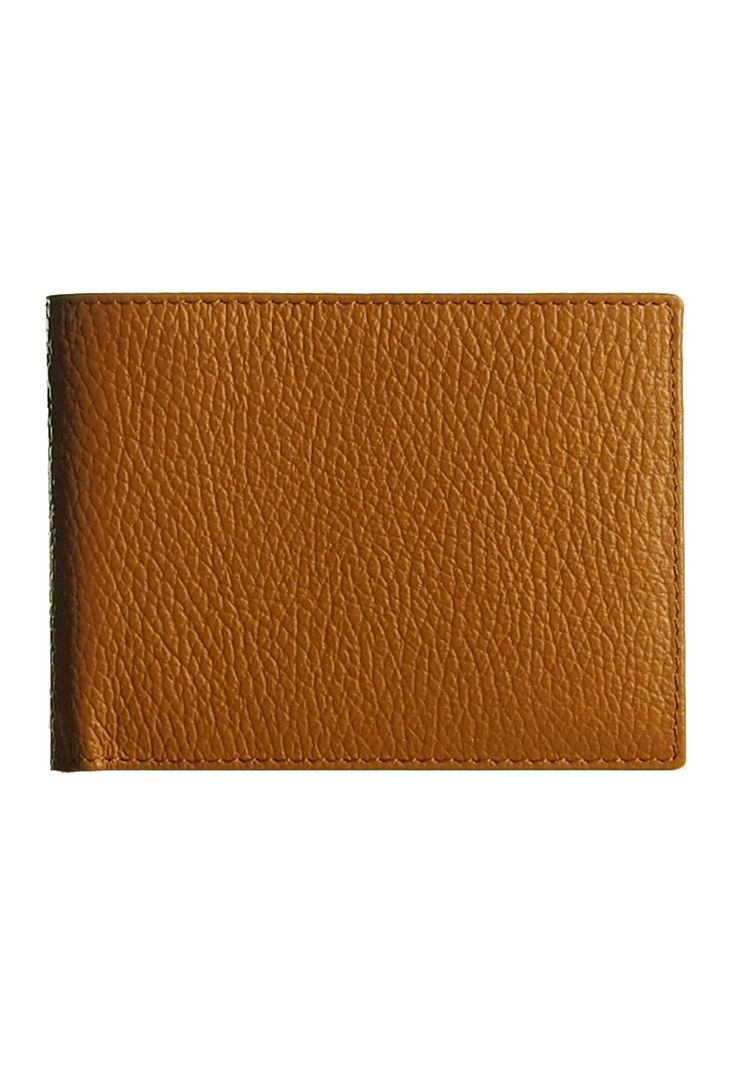Men's Bill Fold Wallet in Grained Leather: Amazon.co.uk: Clothing