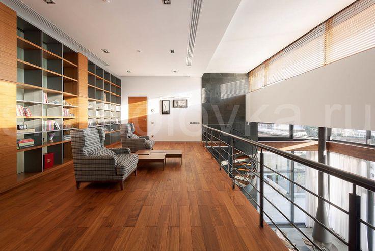 библиотека - современный стиль, минимализм, contemporary house, library