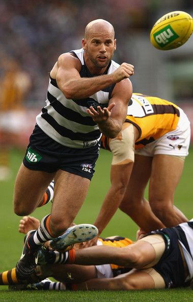 Paul Chapman playing for the Geelong Cats