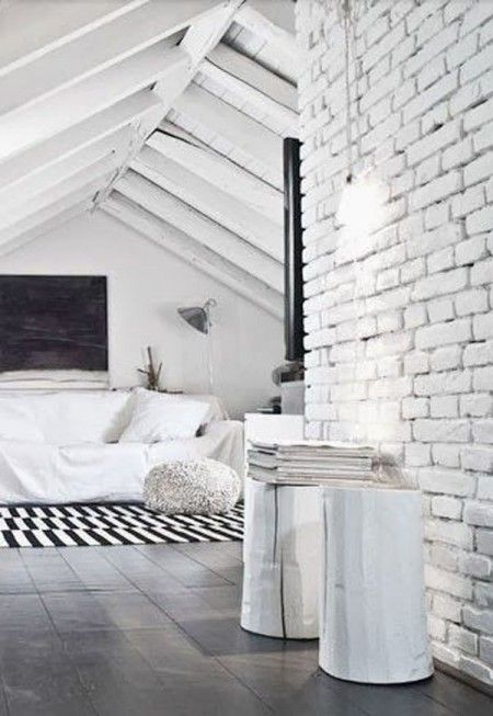 Best White Brick Wall Images On Pinterest White Brick Walls - White brick interiors