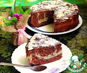 """Шоколадно вишневый пирог с творожно-маковой начинкой """" Подружка"""""""
